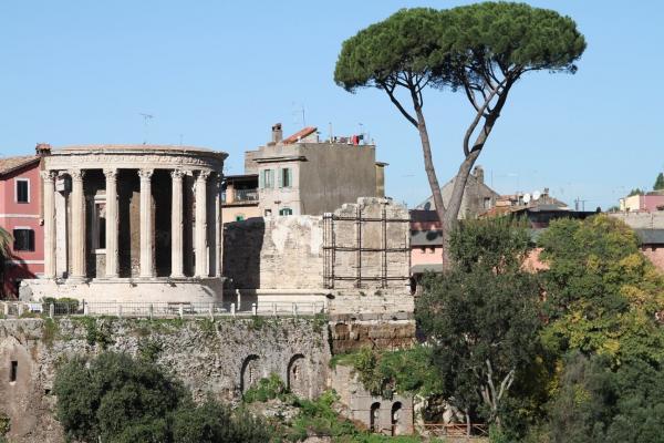 Villa Gregoriana, panorama sul Tempio di Giove